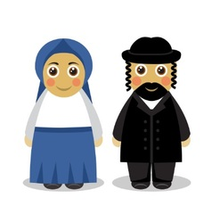 Jewish couple people vector
