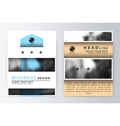 Cover design blue template brochure vector