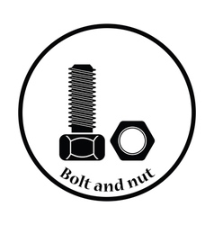 Icon of bolt and nut vector
