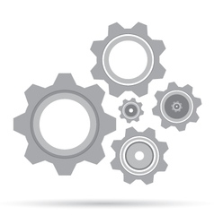 Gear set design on white background grey gear vector