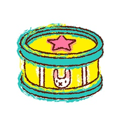 A drum is placed vector image