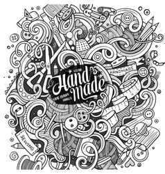 Cartoon cute doodles hand drawn Handmade vector image vector image
