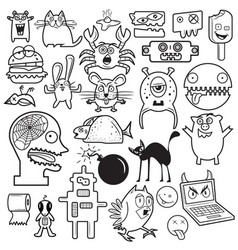 cartoon doodles vector image