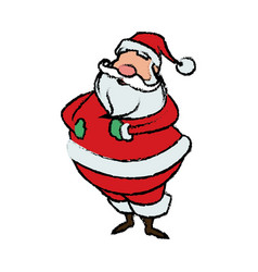 cartoon santa claus for your christmas vector image