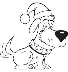 Cartoon santa dog vector