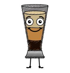 Coffee shake fresh kawaii character vector