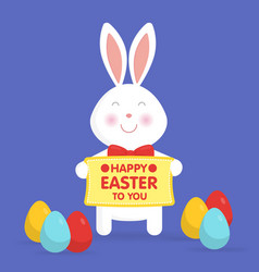 Cute easter bunny vector