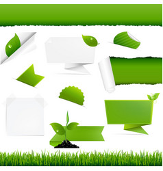 ecogy green set vector image