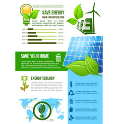 Energy and ecology environment infographics vector