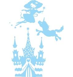 Fantasy silhouettes set vector