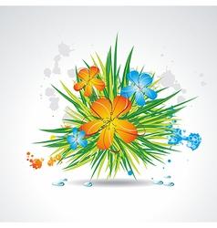 Flower background brochure template vector image vector image
