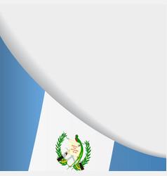 guatemalan flag background vector image