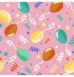Happy birthday seamless pattern with balloons vector