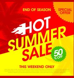 hot summer sale banner design template vector image vector image