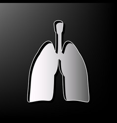 Human anatomy lungs sign gray 3d printed vector