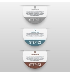infographics template with three options in vector image vector image