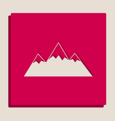 Mountain sign grayscale vector