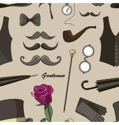 Pattern of elements for gentlemen vector image vector image
