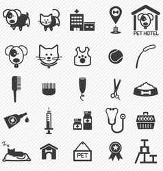 Pet care icons set vector