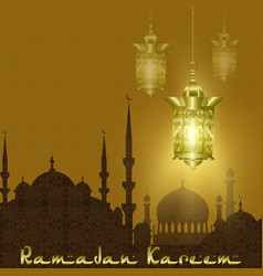 ramadan kareem stylized drawing of the silhouette vector image vector image