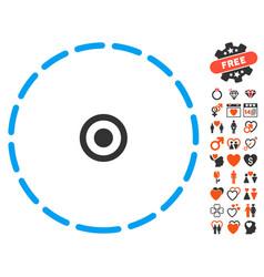 Round area icon with lovely bonus vector