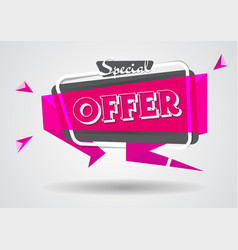 sale banner special offer sign shopping poster vector image