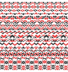 Seamless texture of red black patterns vector image vector image