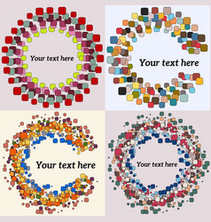 set of abstract round form vector image