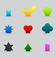 Set of different tabs vector image