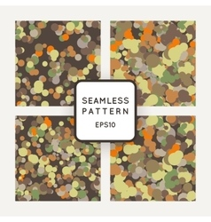 Set of seamless pattern of chaotic spots vector image