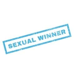 Sexual winner rubber stamp vector