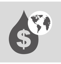 World oil industry consumption price dollar vector