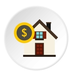 Buying home icon flat style vector