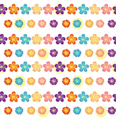 A flowery wallpaper design vector image