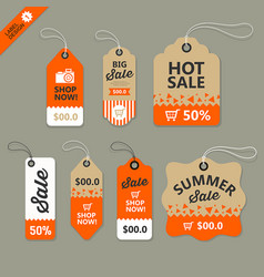 Label paper brown and orange concept vector