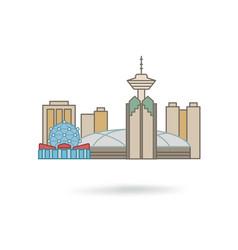 vancouver canada city silhouette icon vector image