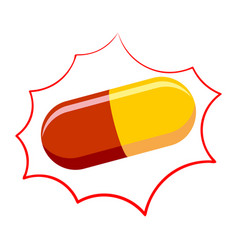 Pill pharmacy isolated medicinal drugs on white vector