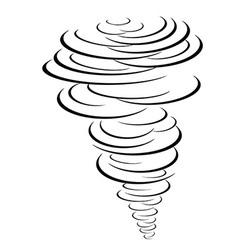Black tornado symbol vector
