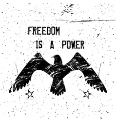 Eagle poster vector
