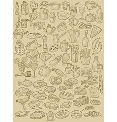 Hand drawn food vector