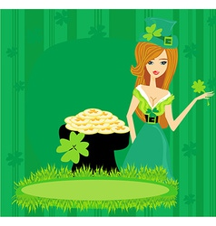 Greeting card for the holiday st patricks day vector