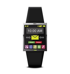 Communication with smart watch technology vector