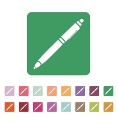 The ballpoint pen icon pen symbol flat vector