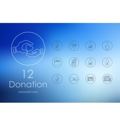 Set of donation icons vector