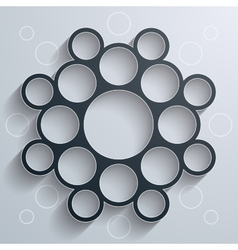 Abstract infographics symmetrical black circles vector