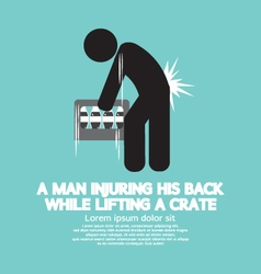 Man injuring his back symbol vector