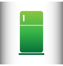 Refrigerator sign green gradient icon vector