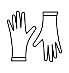 Protective gloves icon outline style vector