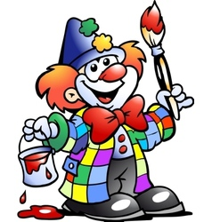 clown painting vector image