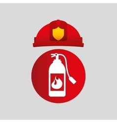 Firefighter job icon vector